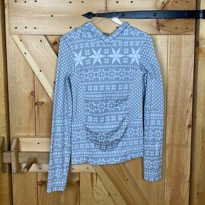 Climawear | snowflake hooded longsleeve shirt